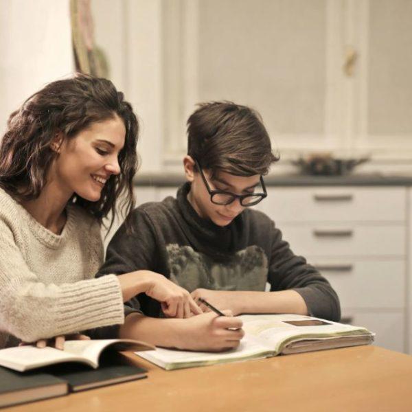 Изучение английского мама и сын